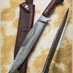 Bowie camp knife with filework RIP802