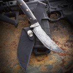 """Skinner/hunter, 10"""" over all, 5""""blade, 1/8th thick O1 Tool steel, Water buffalo horn handle."""