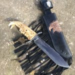 "Bear jaw handle Cable Damascus blade 6.5"" knife is 12.75""overall only make when Bear jaws available!"