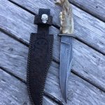 "Bear jaw knife Damascus 320 layers 1084/15N20 blade 6.5"" knife 12.5"" overall only made when Bear jaws available"