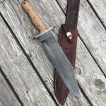 "Bowie W2 steel,15"" overall 8.5"" blade maple handle"